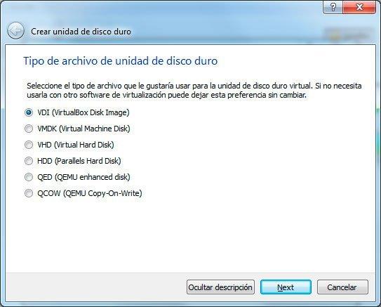 Virtualizar con Virtualbox en Windows