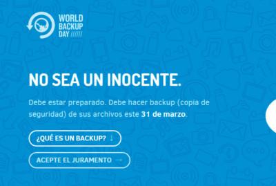 Día Internacional de las Copias de Seguridad
