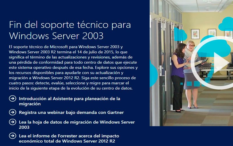 Fin de soporte para Windows 2003