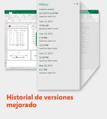 historial de versiones mejorado