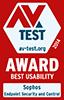 sophos antivirus AV Test Award