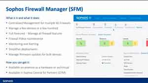 Sophos Firewall Manager (SFM)