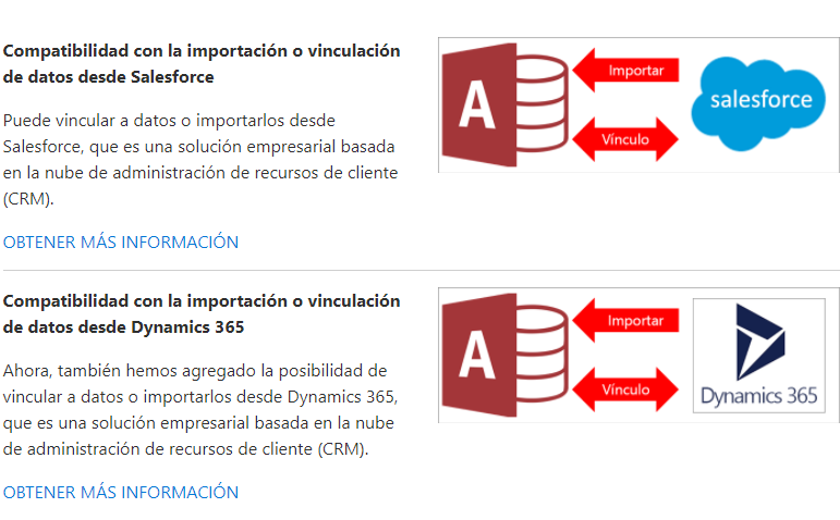 Vincular Access con Salesforce y Dynamics