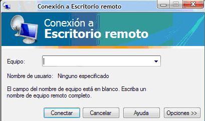 escritorio remoto en equipos windows