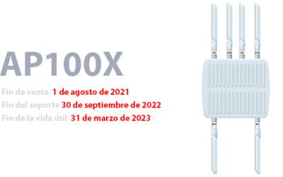 Fin de venta del punto de acceso exterior Sophos AP100X